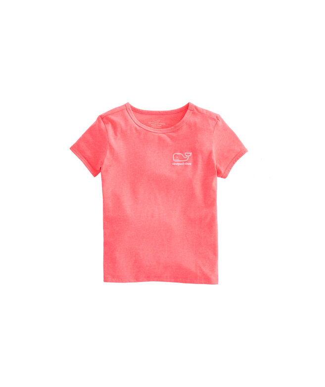 Girls Radiant Whale Short-Sleeve Island Ringer Tee