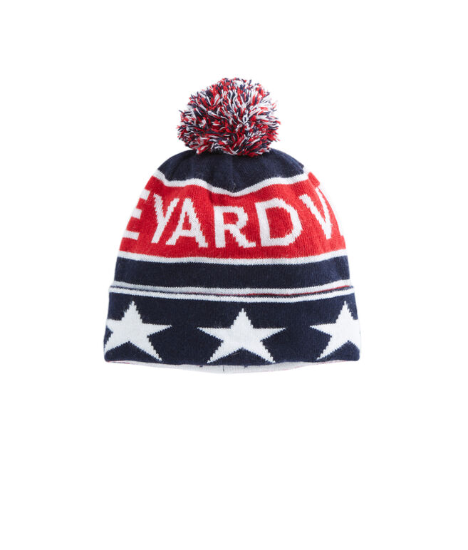 Red, White & Blue Knit Hat