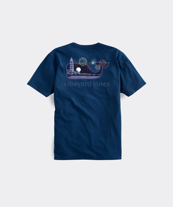 Big & Tall Fourth of July Whale Short-Sleeve Pocket Tee