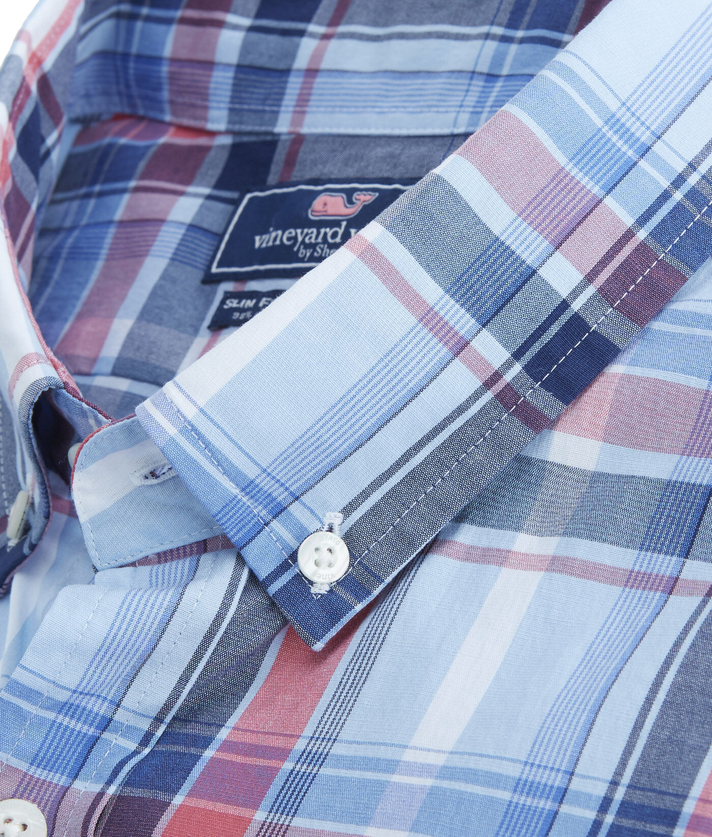 VINEYARD VINES Boathouse Slim Fit Plaid Tucker Shirt