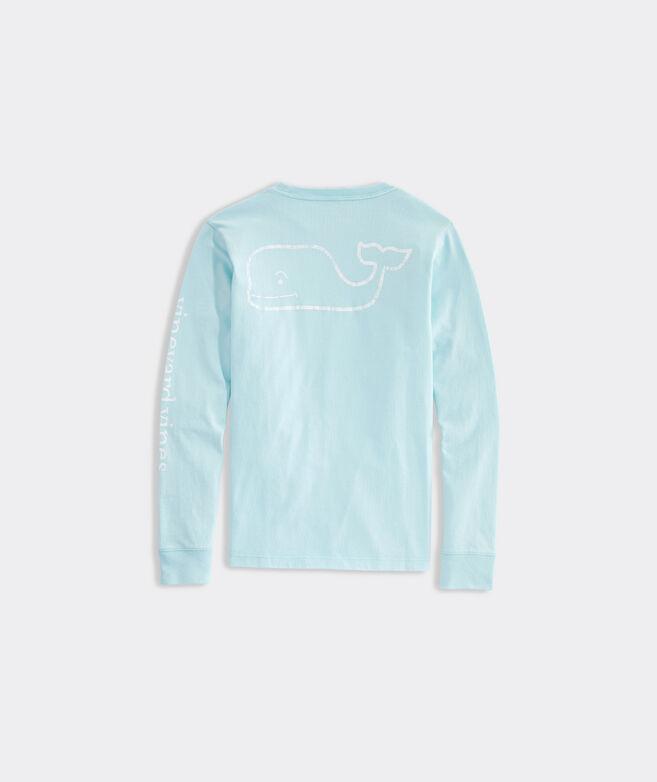 Boys' Garment-Dyed Vintage Whale Long-Sleeve Pocket Tee