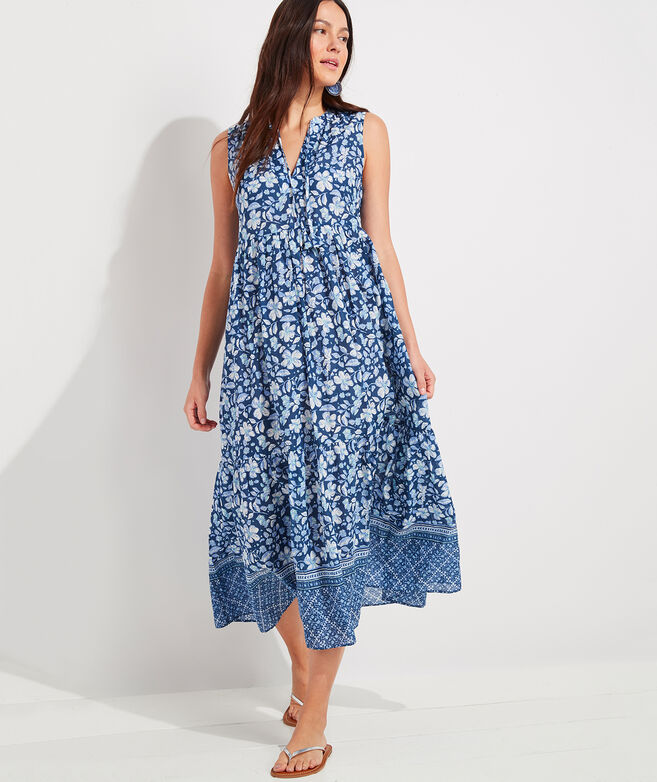 Hibiscus Floral Tiered Breezy Maxi