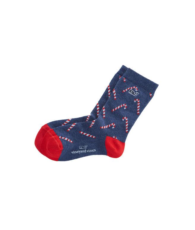 Girls Candy Cane Socks