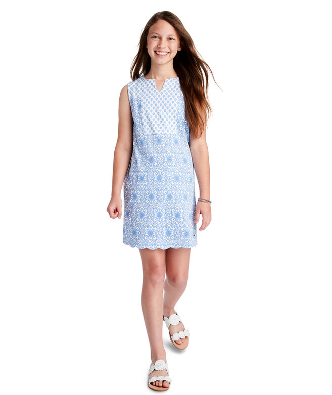 Girls Medallion Vineyard Knit Shift Dress