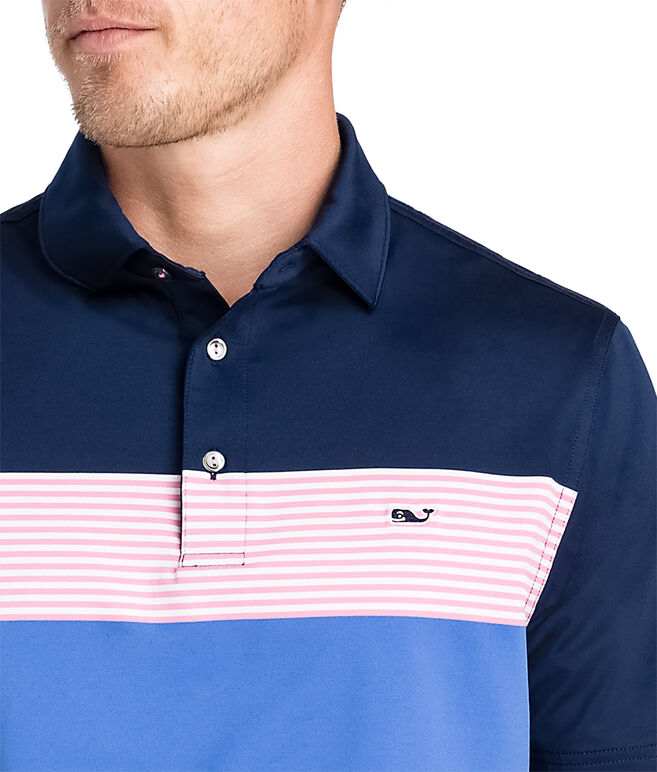 Engineer Color Block Sankaty Performance Polo