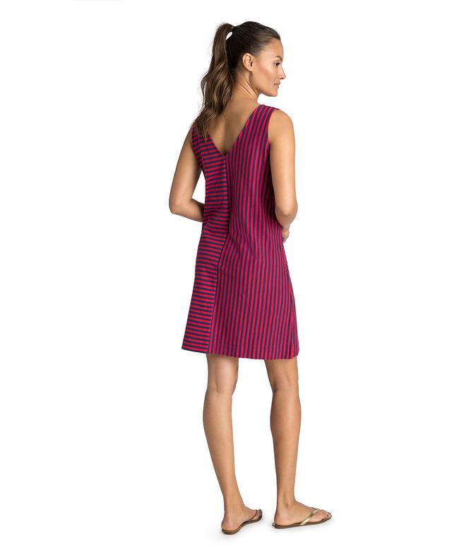 Resort Stripe Bow Shoulder Knit Dress