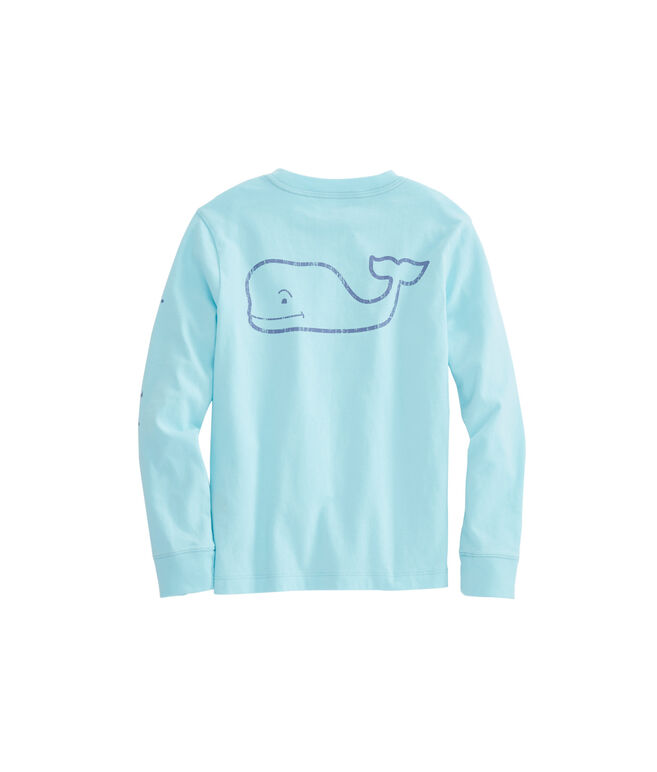 Boys Long-Sleeve Vintage Whale Graphic T-Shirt