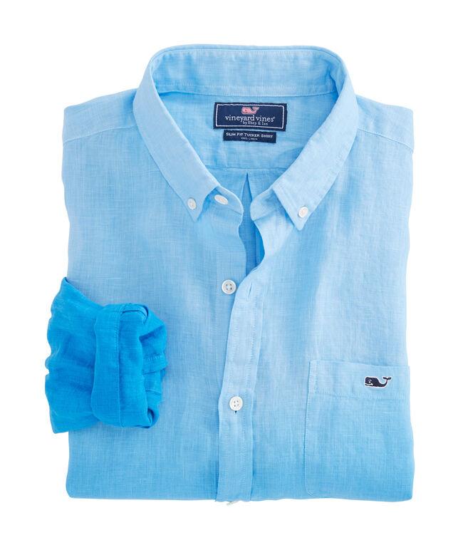 Dip Dye Linen Slim Tucker Shirt