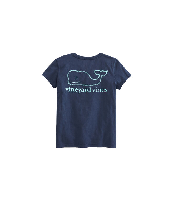 Girls Vintage Whale Pocket Tee