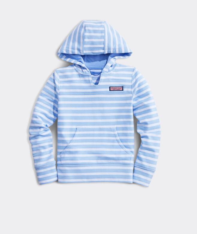 Girls' Striped Hooded Shep Shirt