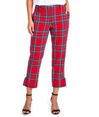 Jolly Plaid Ponte Cocktail Pants