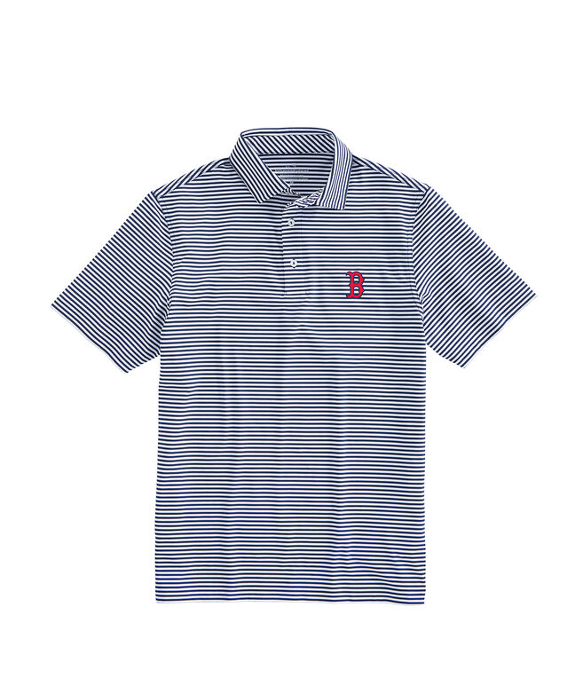 Boston Red Sox Red Sox Winstead Stripe Sankaty Performance Polo