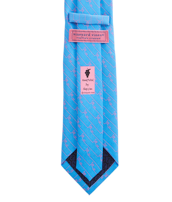 Whale Line Bunny Ears Tie