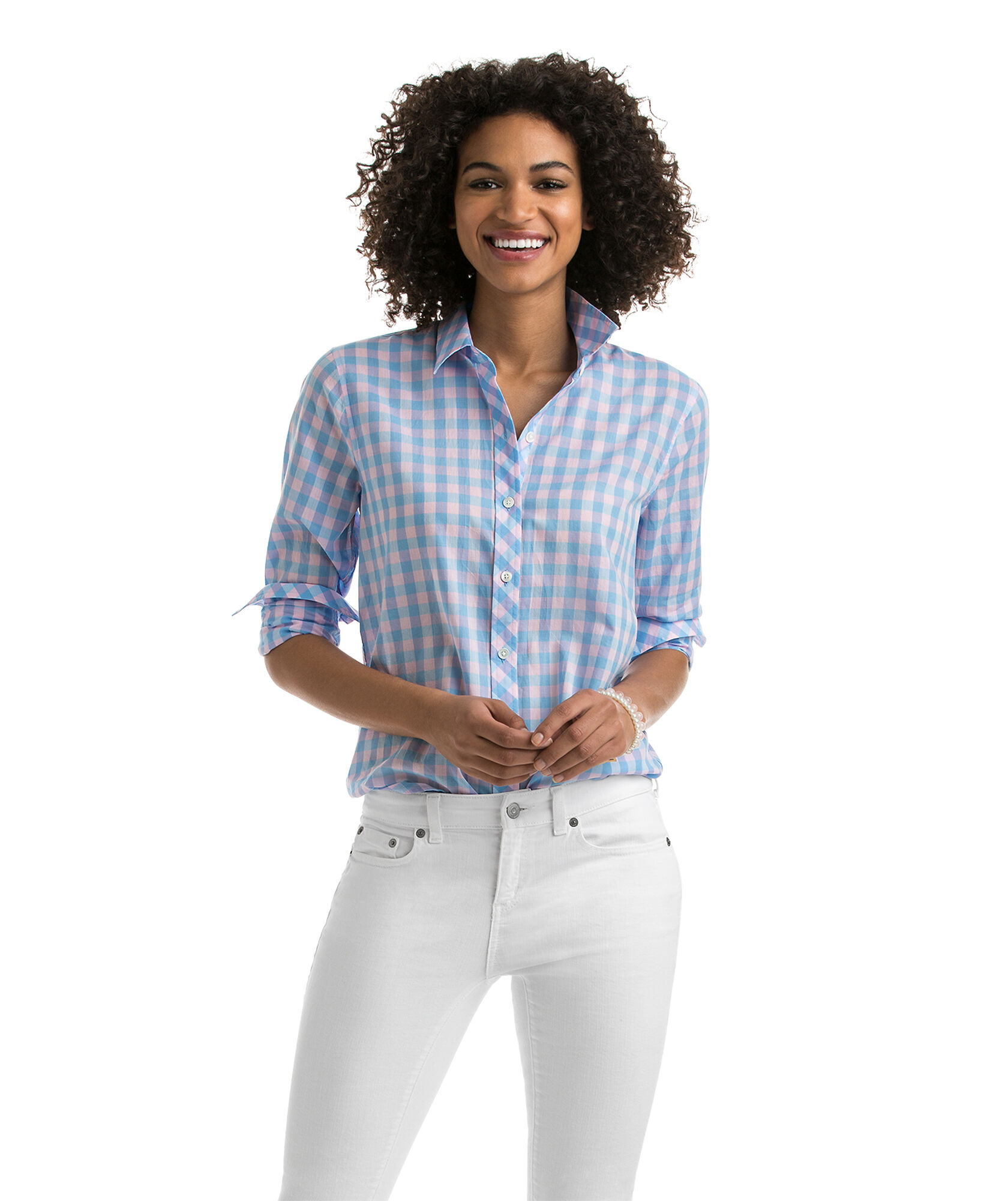311a3a07a71ee6 Blyden Gingham Relaxed Button Down ($59.99 at Vineyard Vines)