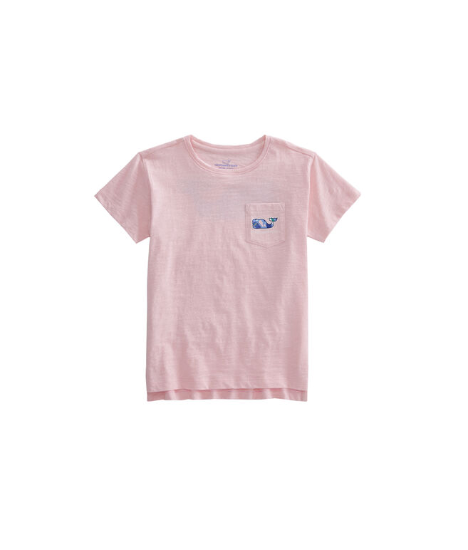 Girls Buoy Whale Fill Pocket Tee