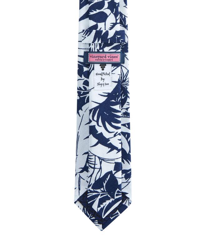 Kennedy Tropical Print Shirting Skinny Tie