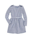 Girls Stripe Knit Waisted Dress