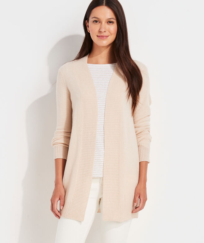 Lofty Cashmere Open-Front Cardigan