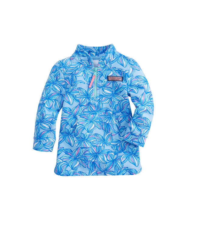 Baby Girl Plumeria Printed Shep Shirt Cover-Up (12-24)
