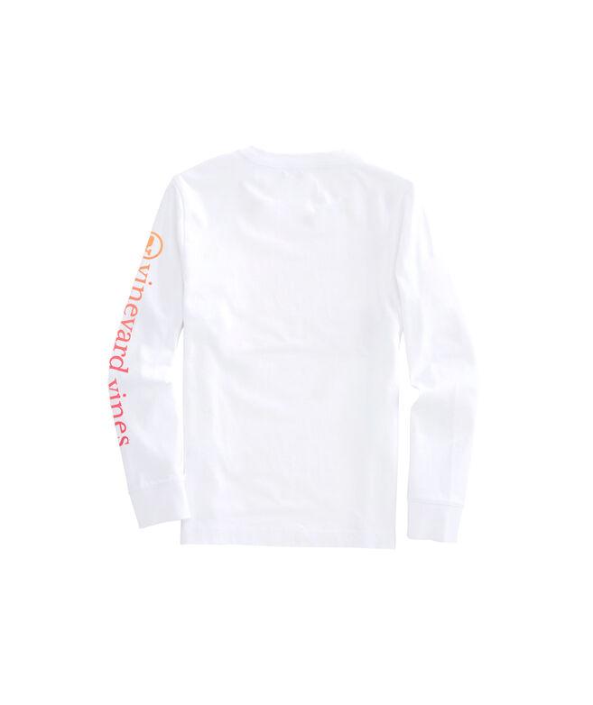 Boys Ombre Whale Dot Long-Sleeve Pocket T-Shirt