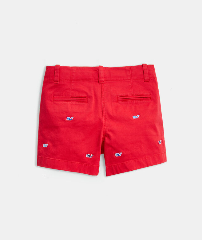 Girls' Whale Embroidered Every Day Shorts