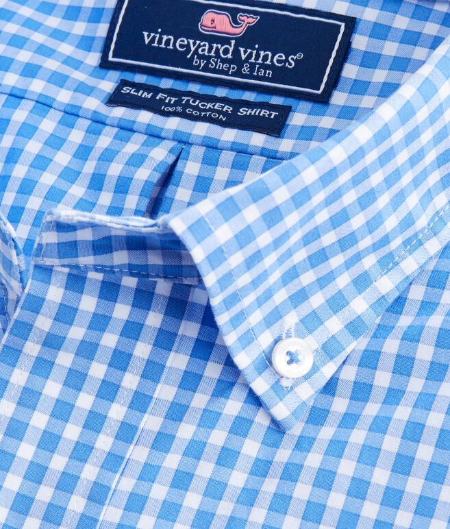 Seabrook Gingham Slim Tucker Shirt