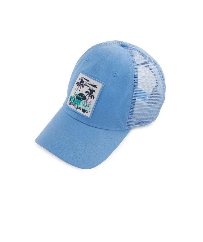Womens Truck & Palm Patch Trucker Hat
