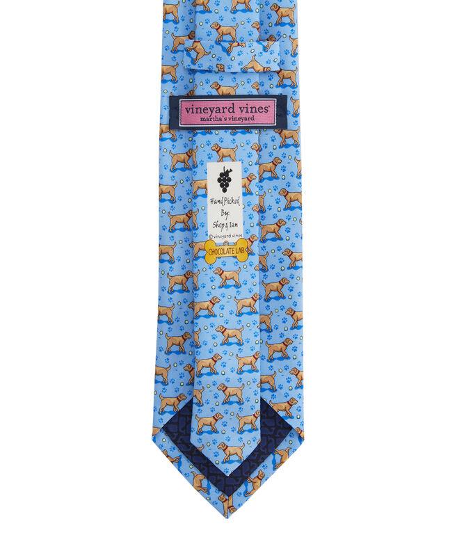 Yellow Lab Printed Tie