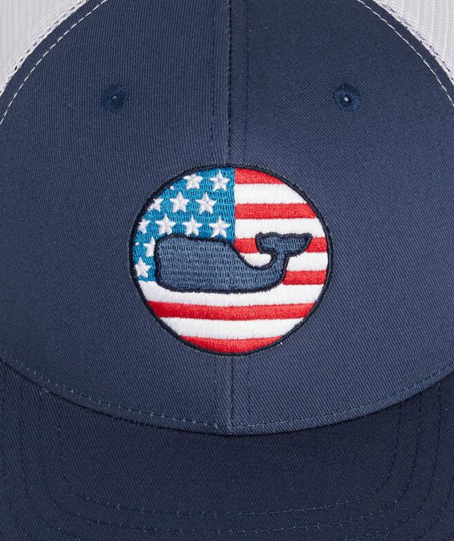Americana Whale Dot Trucker Hat