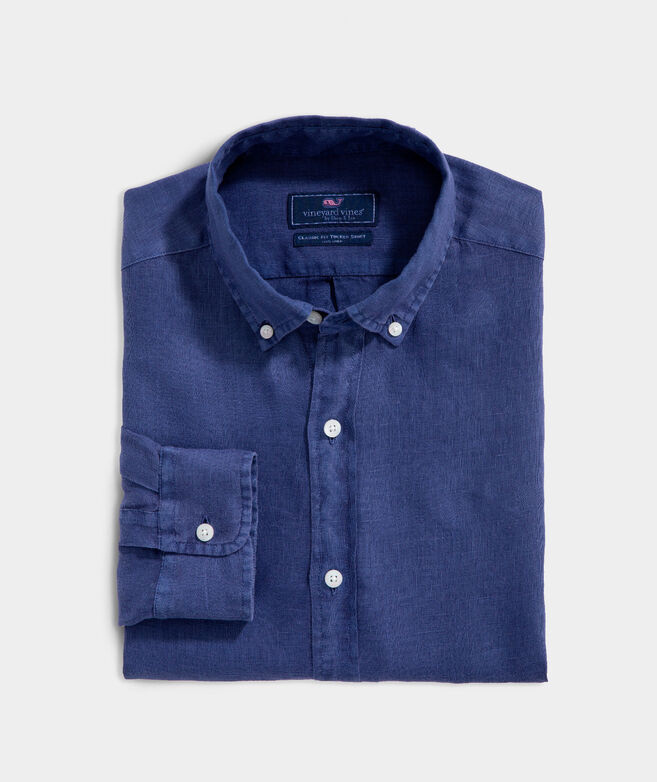 Classic Fit Windward Linen Button-Down Shirt