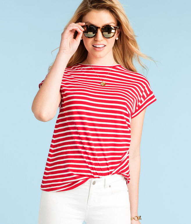 Short-Sleeve Nautical Stripe Tee