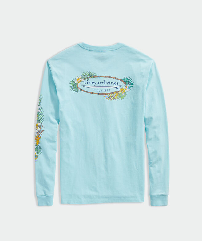 Tropical Surf Logo Long-Sleeve Pocket Tee