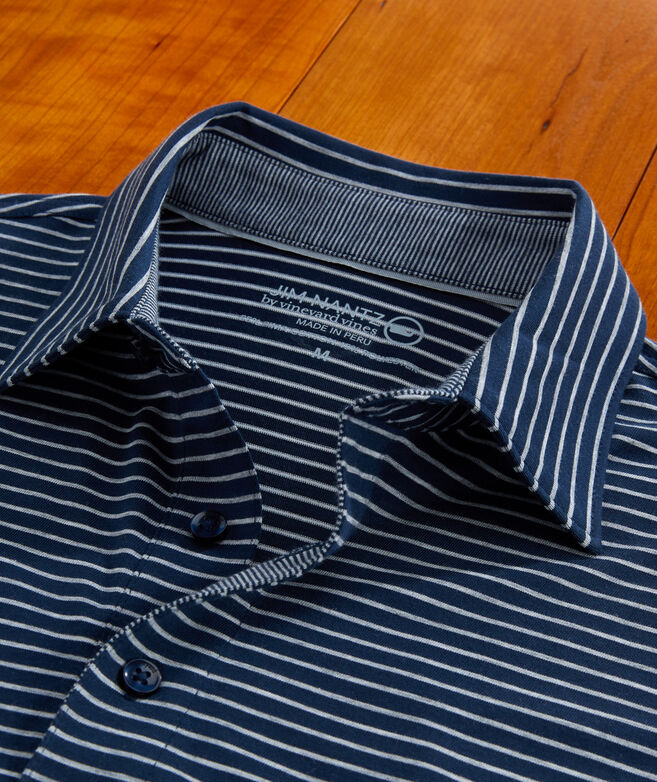 Carmel Open Stripe Heather Polo