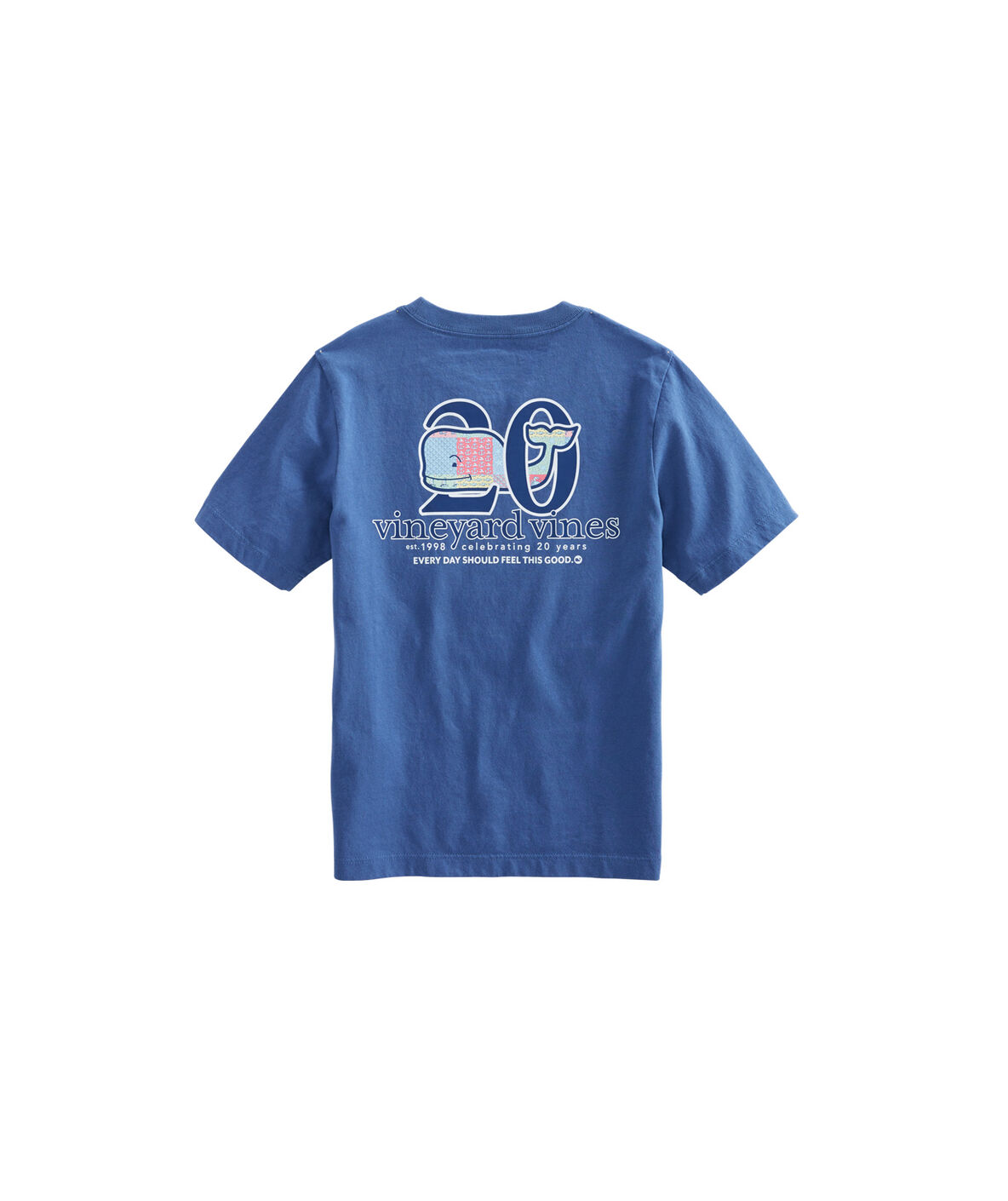 Boys Patchwork Whale Fill Pocket T Shirt by Vineyard Vines