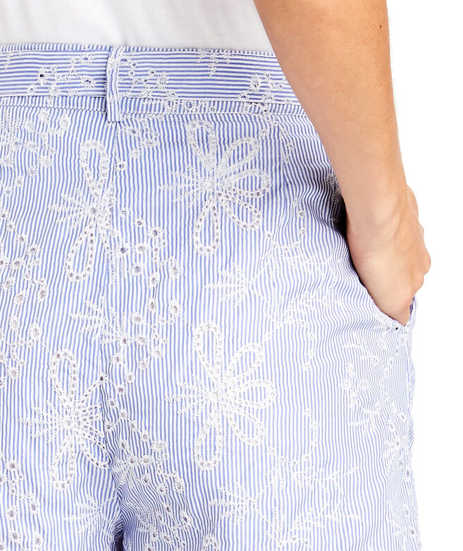Sea Side Eyelet Tie Waist Short