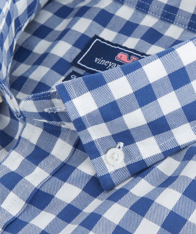 Blueback Gingham Classic Tucker Shirt