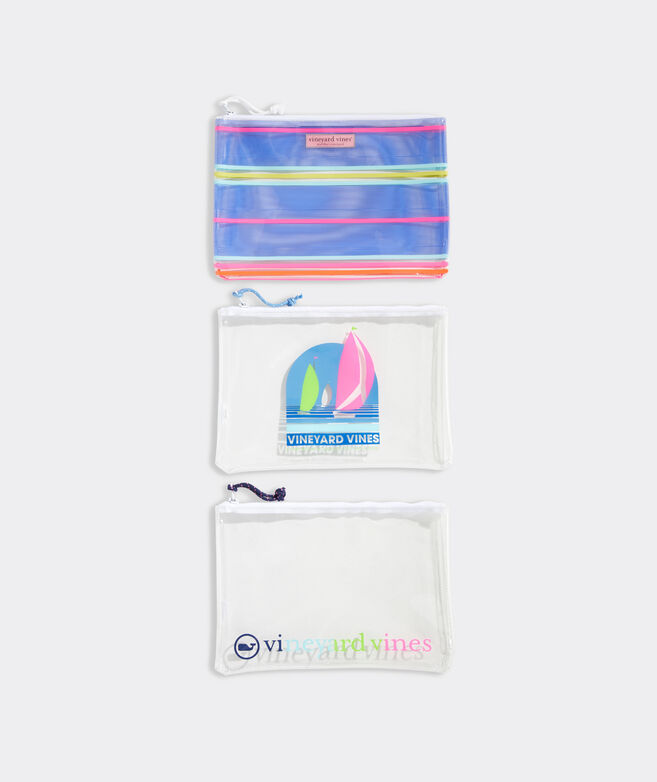 3-Pack Clear Pouch Set
