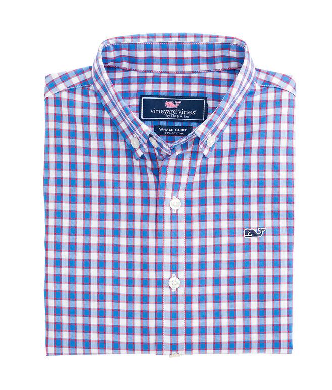 Peyton Plaid Whale Shirt