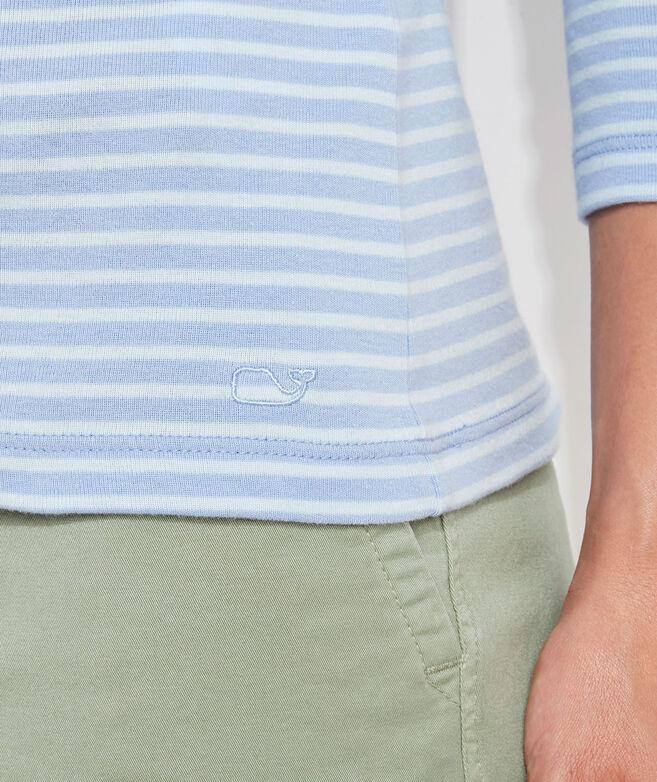 Striped Sankaty Boatneck Short-Sleeve Simple Tee