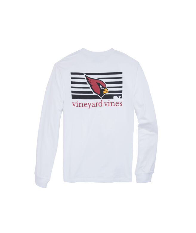 Arizona Cardinals Long-Sleeve Block Stripe Tee