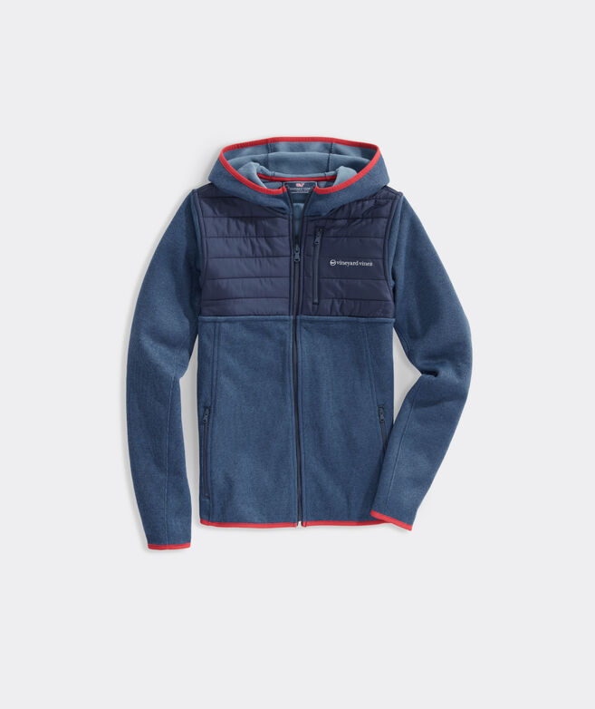 Boys' Hybrid Full-Zip Jacket