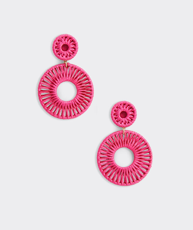 Oval Thread Weave Earrings