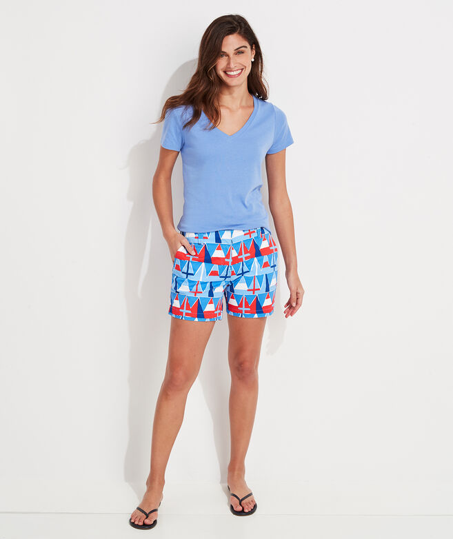Burgee Print 5 Inch Every Day Shorts