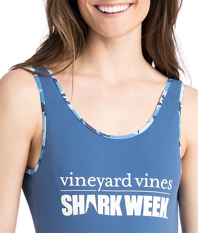 Womens Shark Week One Piece Swimsuit