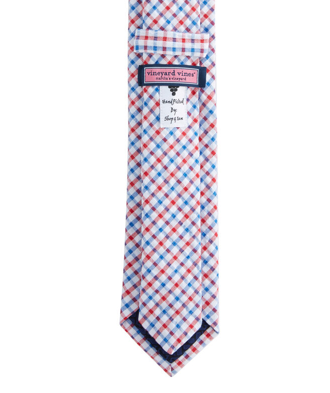 Gingham Seersucker Kennedy Tie