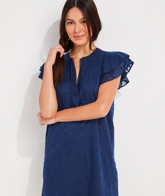 Burnout Vineyard Tunic Dress