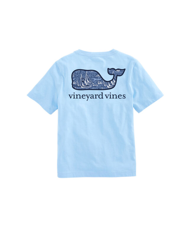 OUTLET Kids' Vineyard Sailing Whale Fill Short Sleeve Pocket Tee