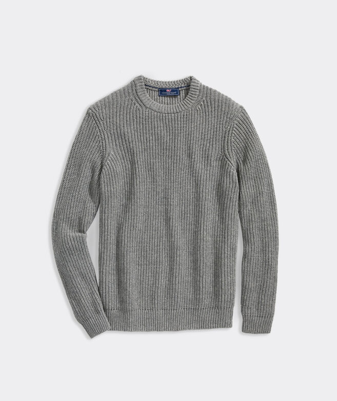 Fisherman Rib Crewneck Sweater