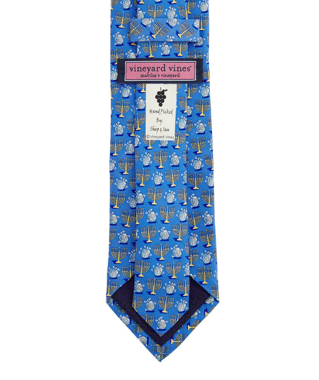 Menorah & Dreidels Printed Tie