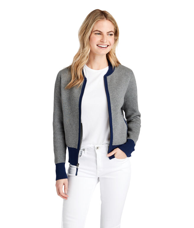 Colorblock Sweater Jacket